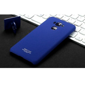 Пластиковый непрозрачный матовый чехол с повышенной шероховатостью для ASUS ZenFone 3 Max ZC553KL  Синий