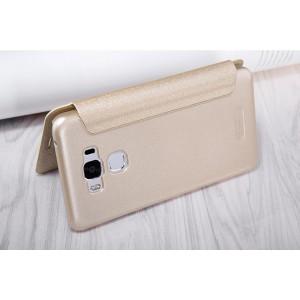 Чехол горизонтальная книжка текстура Золото на пластиковой нескользящей премиум основе для ASUS ZenFone 3 Max ZC553KL