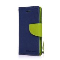 Чехол горизонтальная книжка подставка на силиконовой основе с отсеком для карт на дизайнерской магнитной защелке для ASUS ZenFone 3 Max ZC553KL Синий