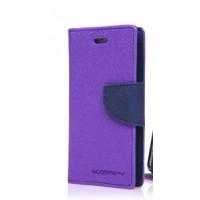 Чехол горизонтальная книжка подставка на силиконовой основе с отсеком для карт на дизайнерской магнитной защелке для ASUS ZenFone 3 Max ZC553KL Фиолетовый