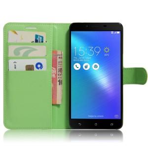 Чехол портмоне подставка на силиконовой основе с отсеком для карт на магнитной защелке для ASUS ZenFone 3 Max ZC553KL