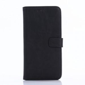 Винтажный чехол горизонтальная книжка подставка на пластиковой основе с отсеком для карт на магнитной защелке для ASUS ZenFone 3 Max ZC553KL  Черный