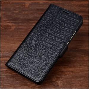 Кожаный чехол горизонтальная книжка подставка (премиум нат. кожа крокодила) с магнитной застежкой для ASUS ZenFone 3 Max ZC553KL