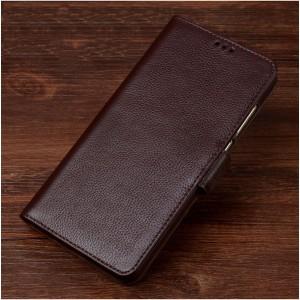 Кожаный чехол горизонтальная книжка подставка (премиум нат. кожа) с магнитной застежкой для ASUS ZenFone 3 Max ZC553KL