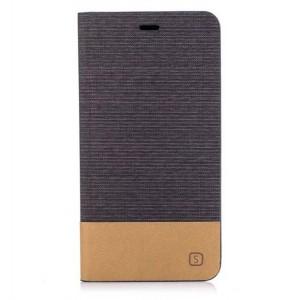 Чехол горизонтальная книжка подставка на силиконовой основе с тканевым покрытием для ASUS ZenFone 3 Max ZC553KL