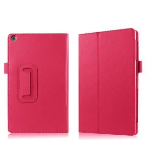 Чехол книжка подставка с рамочной защитой экрана и крепежом для стилуса для ASUS ZenPad 3 8.0 Z581KL Пурпурный