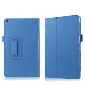 Чехол книжка подставка с рамочной защитой экрана и крепежом для стилуса для ASUS ZenPad 3 8.0 Z581KL Голубой
