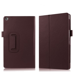 Чехол книжка подставка с рамочной защитой экрана и крепежом для стилуса для ASUS ZenPad 3 8.0 Z581KL Коричневый