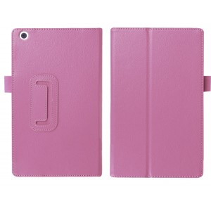 Чехол книжка подставка с рамочной защитой экрана и крепежом для стилуса для ASUS ZenPad 3 8.0 Z581KL Розовый