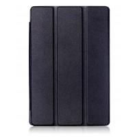 Сегментарный чехол книжка подставка на непрозрачной поликарбонатной основе для ASUS ZenPad 3S 10  Черный