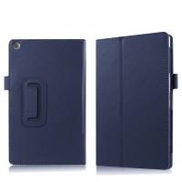 Чехол книжка подставка с рамочной защитой экрана и крепежом для стилуса для ASUS ZenPad 3S 10/10 LTE Синий