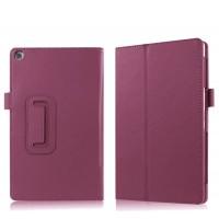 Чехол книжка подставка с рамочной защитой экрана и крепежом для стилуса для ASUS ZenPad 3S 10/10 LTE Фиолетовый