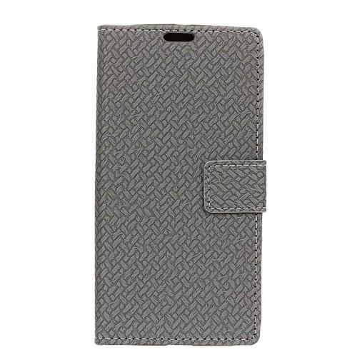 Чехол портмоне подставка текстура Кирпичи на силиконовой основе с отсеком для карт на магнитной защелке для Acer Liquid Zest