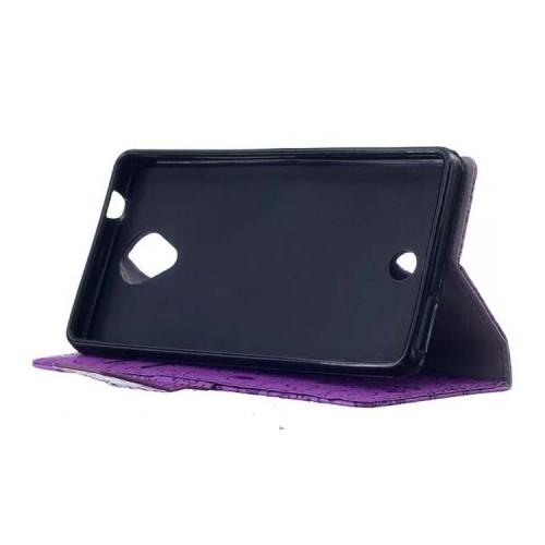 Чехол портмоне подставка текстура Мультик на силиконовой основе с отсеком для карт на магнитной защелке для Acer Liquid Zest