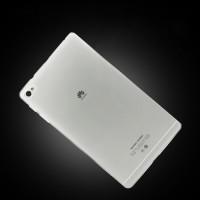 Силиконовый транспарентный чехол для Huawei MediaPad M2 Белый