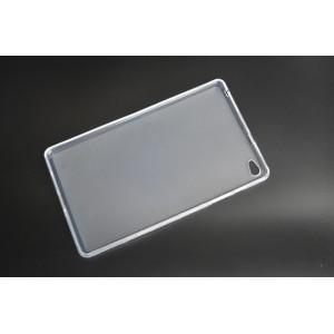 Силиконовый матовый полупрозрачный чехол для Huawei MediaPad M2 Белый
