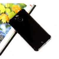 Силиконовый матовый полупрозрачный чехол с улучшенной защитой элементов корпуса для HTC 10 evo Черный
