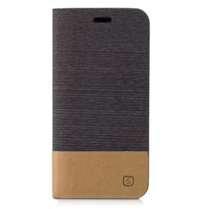 Чехол портмоне подставка на силиконовой основе с тканевым покрытием для Samsung Galaxy A5 (2017) Черный