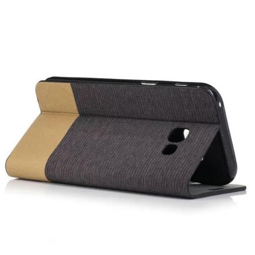 Чехол портмоне подставка на силиконовой основе с тканевым покрытием для Samsung Galaxy A5 (2017)