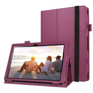 Чехол книжка подставка с рамочной защитой экрана, крепежом для стилуса и поддержкой кисти для Lenovo IdeaPad MIIX 310