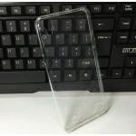Силиконовый глянцевый транспарентный чехол для LG X Power