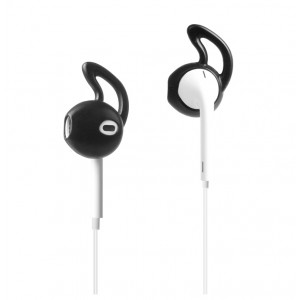 Антискользящие спортивные силиконовые накладки для наушников EarPods Черный
