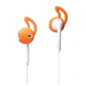 Антискользящие спортивные силиконовые накладки для наушников EarPods Оранжевый