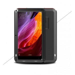 Эксклюзивный многомодульный ультрапротекторный пылевлагозащищенный ударостойкий нескользящий чехол алюминиево-цинковый сплав/силиконовый полимер для Xiaomi Mi Mix Черный
