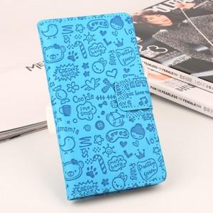 Чехол горизонтальная книжка подставка текстура Узоры на силиконовой основе с отсеком для карт на магнитной защелке для Xiaomi Mi Mix Синий