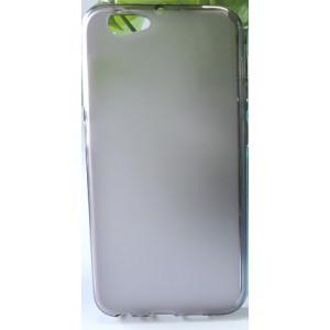 Силиконовый матовый полупрозрачный чехол для HTC One A9S Черный