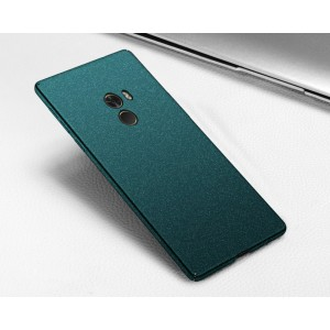 Пластиковый непрозрачный матовый чехол с улучшенной защитой элементов корпуса и повышенной шероховатостью для Xiaomi Mi Mix Зеленый