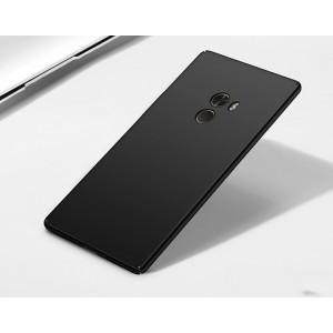Пластиковый непрозрачный матовый чехол с улучшенной защитой элементов корпуса для Xiaomi Mi Mix Черный