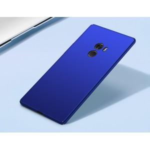 Пластиковый непрозрачный матовый чехол с улучшенной защитой элементов корпуса для Xiaomi Mi Mix Синий