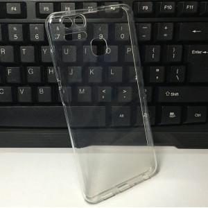 Силиконовый глянцевый транспарентный чехол для Asus ZenFone 3 Zoom