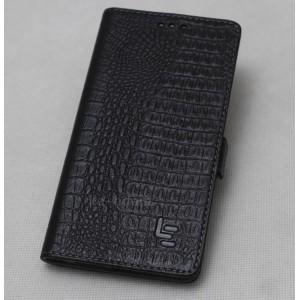 Кожаный чехол горизонтальная книжка подставка текстура Крокодил с крепежной застежкой для LeEco Le Pro 3