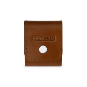 Кожаный чехол кобура (нат. кожа) на кнопке для AirPods