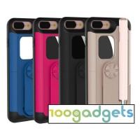Пластиковый чехол со встроенным проводным селфи-моноподом и зеркалом для Iphone 7 Plus