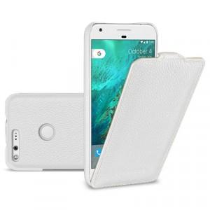 Кожаный чехол вертикальная книжка (премиум нат. кожа) для Google Pixel XL