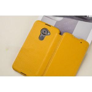 Кожаный чехол горизонтальная книжка (премиум нат. кожа) для Blackberry DTEK60
