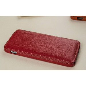 Кожаный чехол вертикальная книжка (премиум нат. кожа) для Blackberry DTEK60  Красный