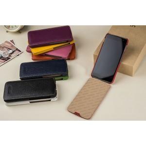 Кожаный чехол вертикальная книжка (премиум нат. кожа) для Blackberry DTEK60