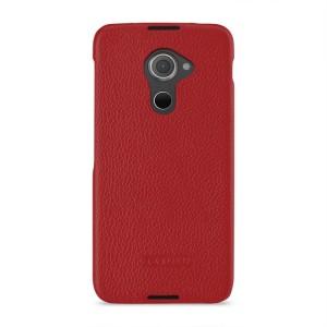 Кожаный чехол накладка (премиум нат. кожа) для Blackberry DTEK60 Красный