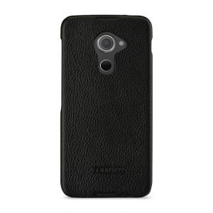 Кожаный чехол накладка (премиум нат. кожа) для Blackberry DTEK60 Черный