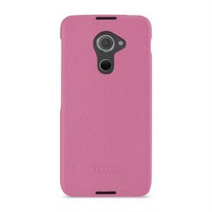 Кожаный чехол накладка (премиум нат. кожа) для Blackberry DTEK60