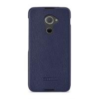 Кожаный чехол накладка (премиум нат. кожа) для Blackberry DTEK60 Синий