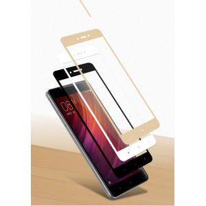 Полноэкранное ультратонкое износоустойчивое сколостойкое олеофобное защитное стекло-пленка для Xiaomi RedMi Note 4