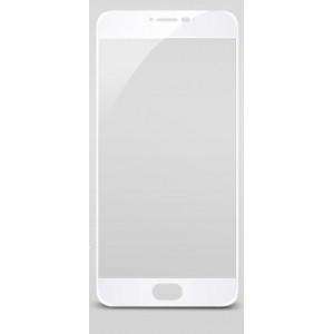 Полноэкранное ультратонкое износоустойчивое сколостойкое олеофобное защитное стекло-пленка для Meizu M3 Note Белый