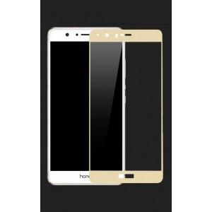 Полноэкранное ультратонкое износоустойчивое сколостойкое олеофобное защитное стекло-пленка для Huawei Honor 8 Бежевый