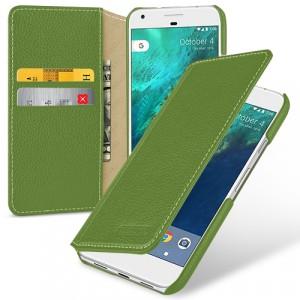 Кожаный чехол портмоне (премиум нат. кожа) для Google Pixel XL