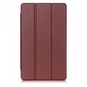 Сегментарный чехол книжка подставка на непрозрачной поликарбонатной основе с магнитной защелкой для Lenovo Tab 3 8 Plus